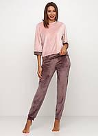 Р-р 42,  44, 46, 48, 50,  Пижама женская велюровая, комплект домашний, костюм велюровый