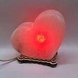Соляной светильник Сердце большое Лица, фото 2
