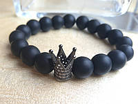 Браслет Шунгит и черная корона