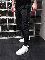 Мужские спортивные брюки штаны серые с черной полосой