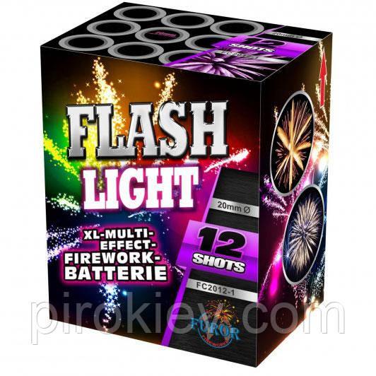 FC2012-1 FLASH LIGHT фейерверк 12 залпов, калибр 20 мм, FUROR