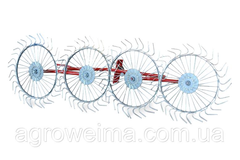 Граблі-ворошилки (Сонечко) AGROMARKA LUXE товщина граблинной дроту 5 мм Плавно загнуті кінці зубів, кількість
