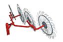 Граблі-ворошилки (Сонечко) AGROMARKA LUXE товщина граблинной дроту 5 мм Плавно загнуті кінці зубів, кількість, фото 2