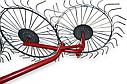 Граблі-ворошилки (Сонечко) AGROMARKA LUXE товщина граблинной дроту 5 мм Плавно загнуті кінці зубів, кількість, фото 3