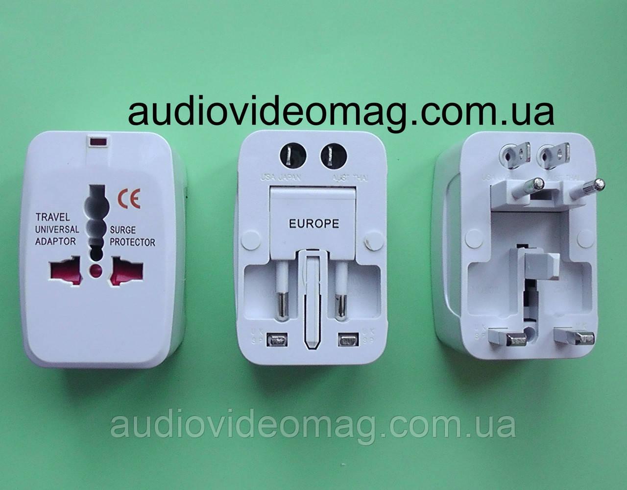 Универсальный переходник-адаптер для разных типов электровилок