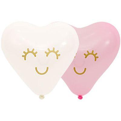"""И Латексные шары сердце 10"""" Реснички"""