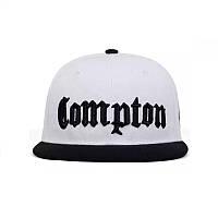 Кепка снепбек Compton с прямым козырьком Белая 2, Унисекс, фото 1