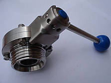 Клапан нержавеющий гайка/гайка DN32, фото 2