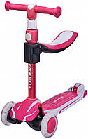 Самокат Maraton Flex G беговел 2 в 1 рожевий