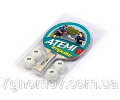 Набор для настольного тенниса Atemi Impulse  (1р+4м)