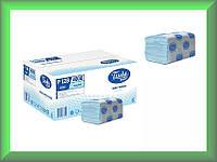 Полотенца бумажные ЕCО Р128 Tischa Papier (голубая макулатура, однослойные, ящик 20 пачек)