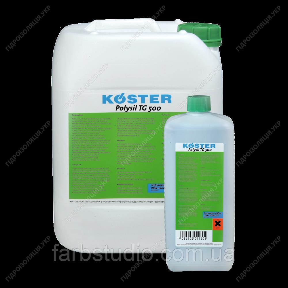 Глибоко проникаюча грунтовка проти сирості та засолених поверхонь KOSTER Polysil TG 500 - 1 кг