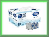 Полотенца бумажные ЕСО Р121 Tischa Papier (серая макулатура, однослойные, ящик 20 пачек)