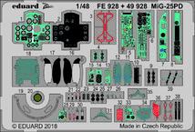 Набор фототравленных деталей для модели самолета МиГ-25ПД. 1/48 EDUARD 49928