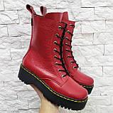 Женские высокие ботинки на шнуровке демисезонные WooDstock (новые цвета), фото 7