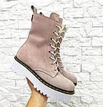 Женские высокие ботинки на шнуровке демисезонные WooDstock (новые цвета), фото 6