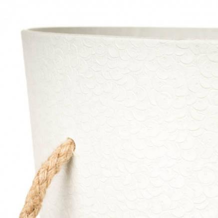 Белая коробка для цветов с ручками ( картон ), фото 2