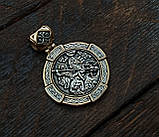 Образок серебряный Великомученик Георгий Победоносец 8357-R, фото 3