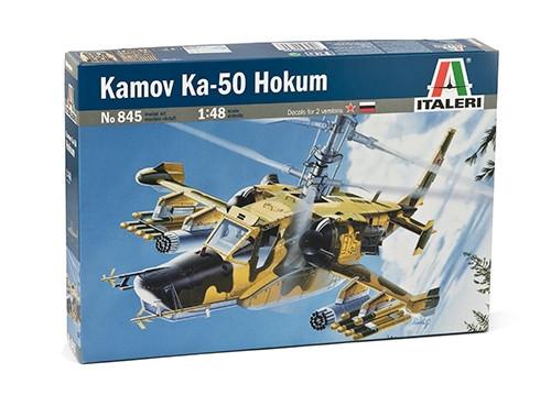 Ка-50. Сборная пластиковая модель вертолета в масштабе 1/48. ITALERI 0845