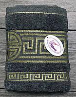 Полотенце махровое банное Серый