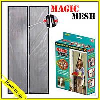 Дверная антимоскитная сетка на магнитах Magic Mesh 100х210см,москитная сетка-дверь на магнитах,магнитные шторы, фото 1