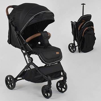 Детская коляска прогулочная JOY C-3003 с телескопической ручкой для перевозки,Черная прогулочная коляска