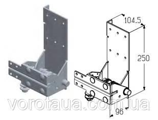 Кронштейн роликовый нижний для секционных ворот Alutech Classic и ProPlus