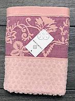 Полотенце махровое банное Розовый