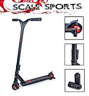 Трюковый самокат Storm + Пегги от Scale Sports на подшипниках Abec-9 Черного цвета