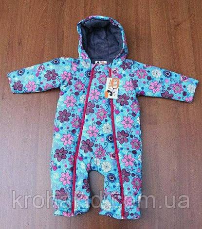 """Детский демисезонный комбинезон """"KIDS"""" - 74-86 см /  весенний комбинезон от 8 до 18 мес, фото 2"""