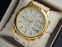 Мужские кварцевые наручные часы Diesel на кожаном ремешке, фото 1