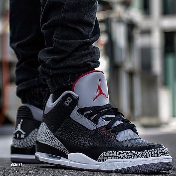 Кроссовки мужские Nike Air Jordan 3 / AJM-045