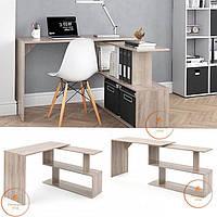 Стол компьютерный угловой Дуб Сонома, прямой, письменный стол из ДСП