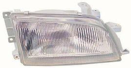 Фара правая Toyota Carina E 92-97 механический корректор стеклянный рассеиватель (DEPO). 212-1156R-LD-E