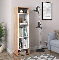 Полка для книг, стеллаж для дома вертикальный. ДСП. P0004