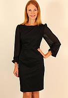 Нарядное черное платье футляр 44-50 р