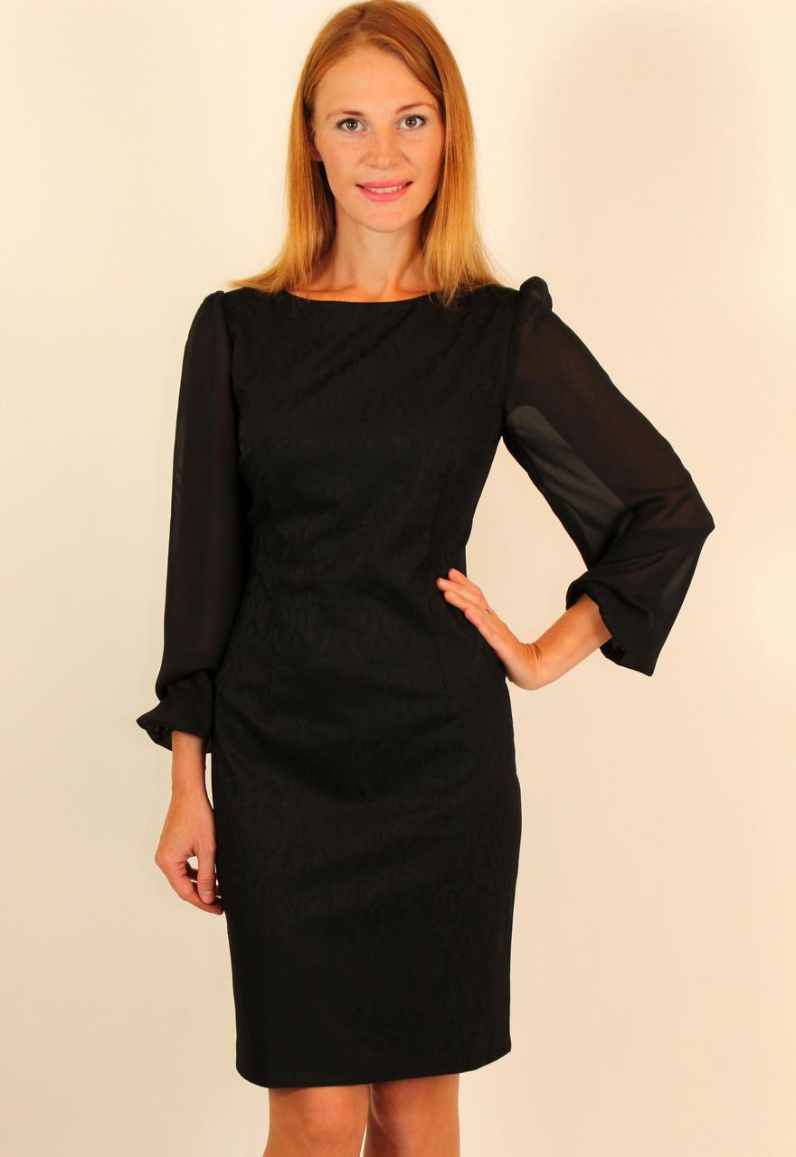 3c37451a4ab9 Нарядное черное платье футляр 44-50 р - Оптовый интернет-магазин по продаже  женской