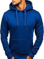 Кофта с капюшоном мужская худи синяя