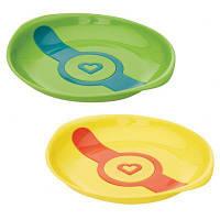 Набор детской посуды Munchkin Тарелки White Hot зеленая и желтая (012104.01)