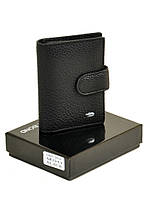 Мужское кожаное портмоне DR. BOND M50 black.Мужские портмоне оптом в Украине