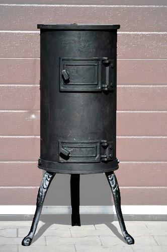 Отопительная печь чугунная, буржуйка KARLIK Koza