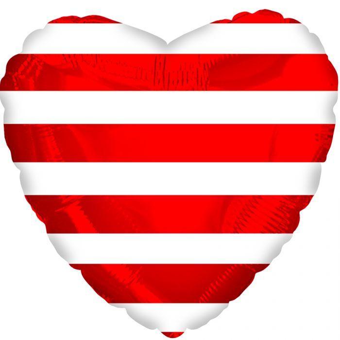 "CTI 18"" Red Stripes Heart Красные полоски"
