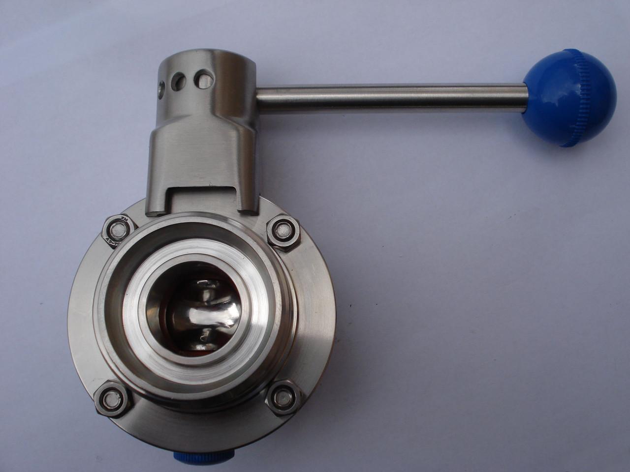 Нержавеющий кран дисковый DN 80