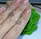Срібні сережки з підвісом Лапки, фото 3