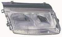 Фара правая VW Passat B5 без противотуманных фар рифленый рассеиватель (DEPO). 441-1125R-LD-EM