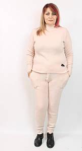 Турецкий женский трикотажный костюм, размеры 50-56