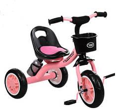 """Детский велосипед """"Гномик"""" трехколесный Turbotrike (розовый) арт. 3197M1"""