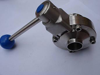 Дисковый клапан нержавеющий сварка/резьба DN 65, фото 2