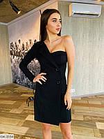 Сукня піджак жіночий на одне плече стильне розміри 40 42 44 новинка 2020 кольори