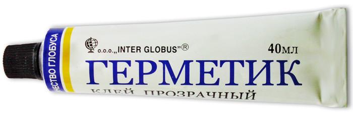 Клей прозрачный ГЕРМЕТИК Inter Globus, 40 мл